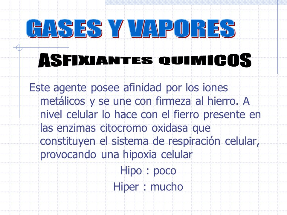 GASES Y VAPORES ASFIXIANTES QUIMICOS