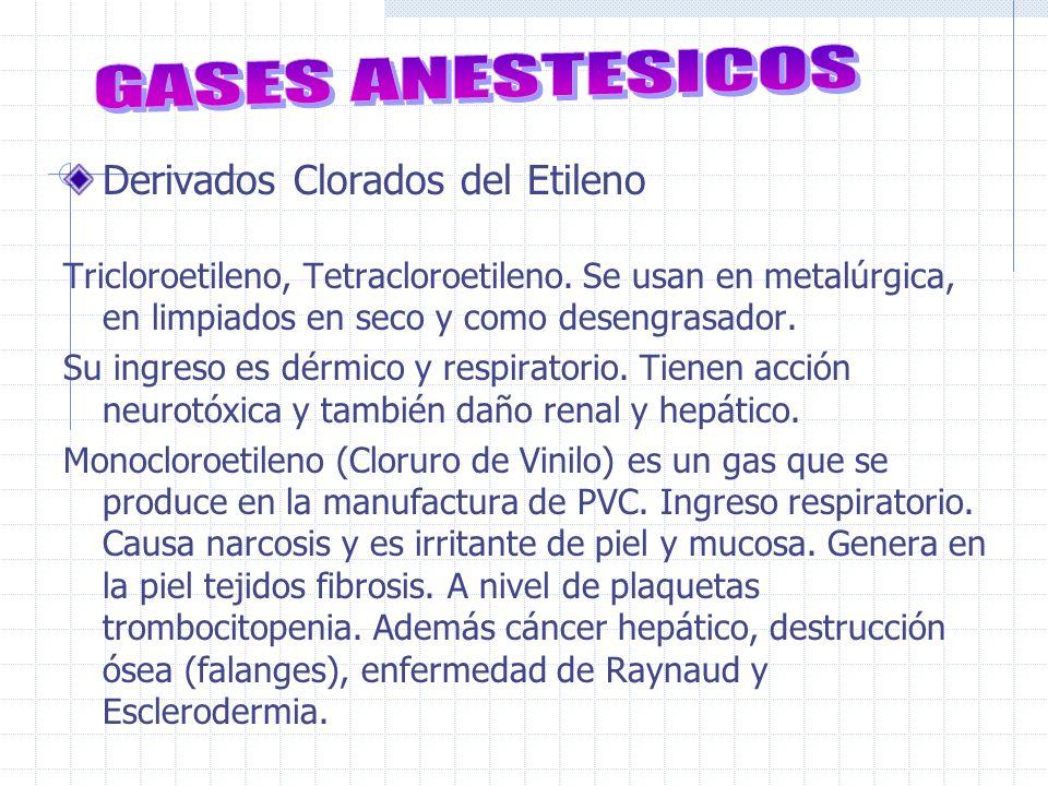 GASES ANESTESICOS Derivados Clorados del Etileno