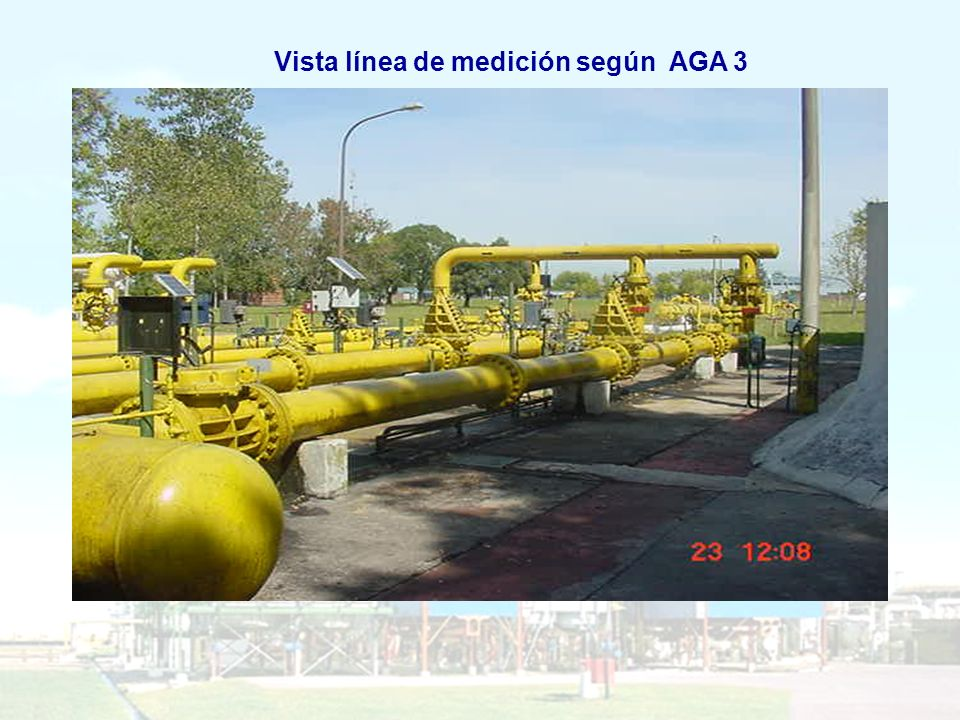 Vista línea de medición según AGA 3