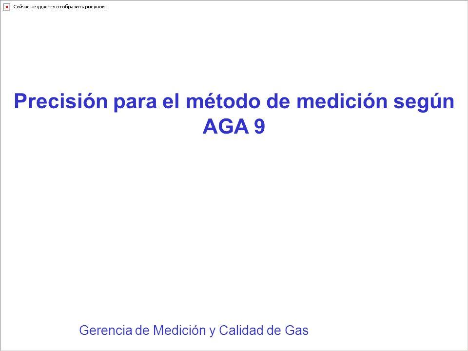 Precisión para el método de medición según AGA 9
