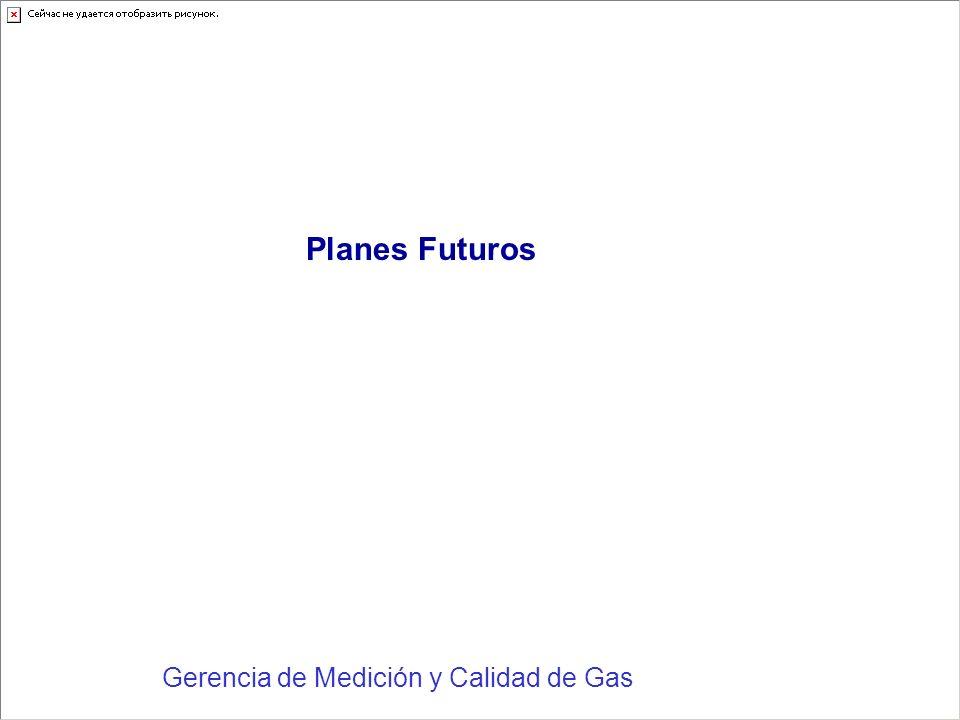 Planes Futuros Gerencia de Medición y Calidad de Gas
