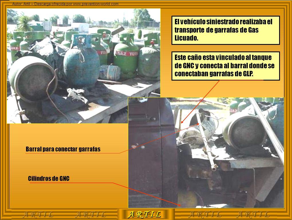 El vehículo siniestrado realizaba el transporte de garrafas de Gas Licuado.