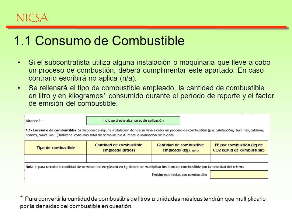 1.1 Consumo de Combustible