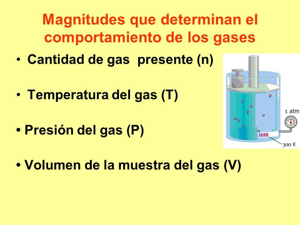 Magnitudes que determinan el comportamiento de los gases