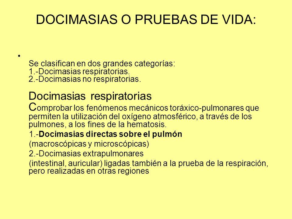 DOCIMASIAS O PRUEBAS DE VIDA: