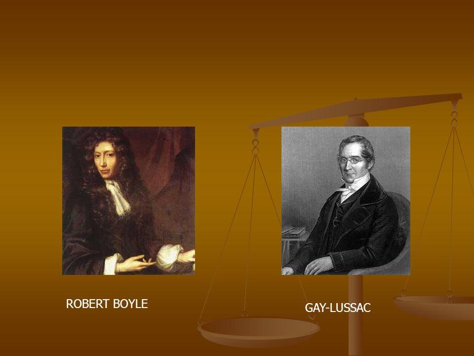 ROBERT BOYLE GAY-LUSSAC