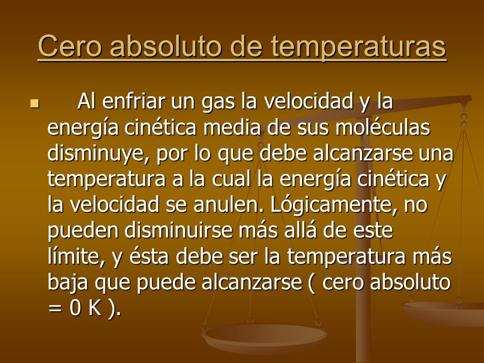 Cero absoluto de temperaturas