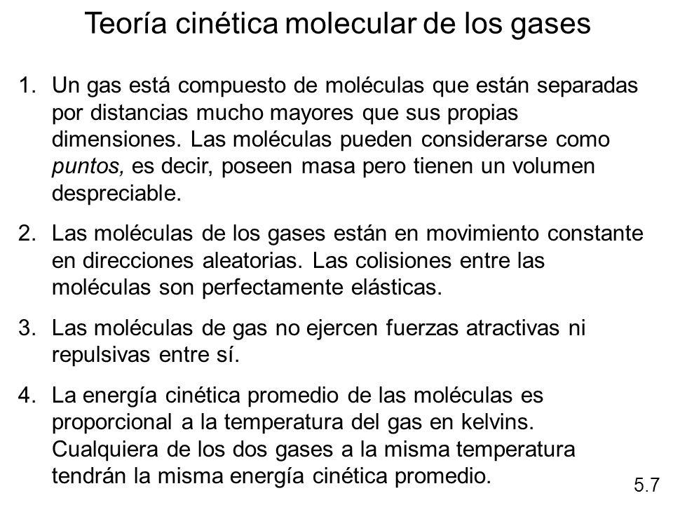 Teoría cinética molecular de los gases