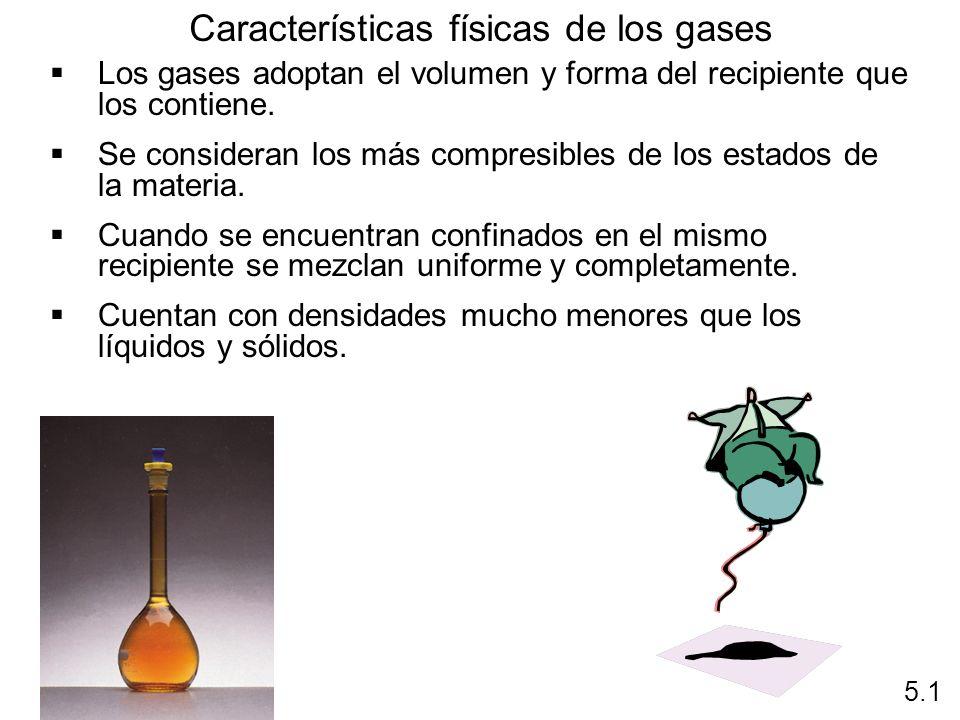 Características físicas de los gases
