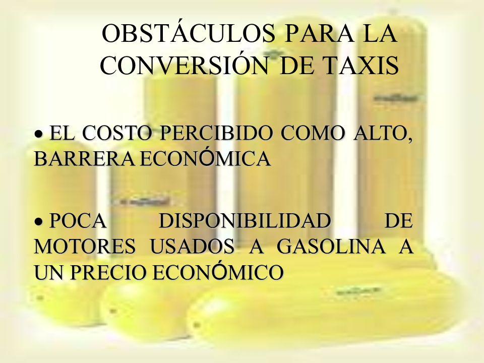 OBSTÁCULOS PARA LA CONVERSIÓN DE TAXIS