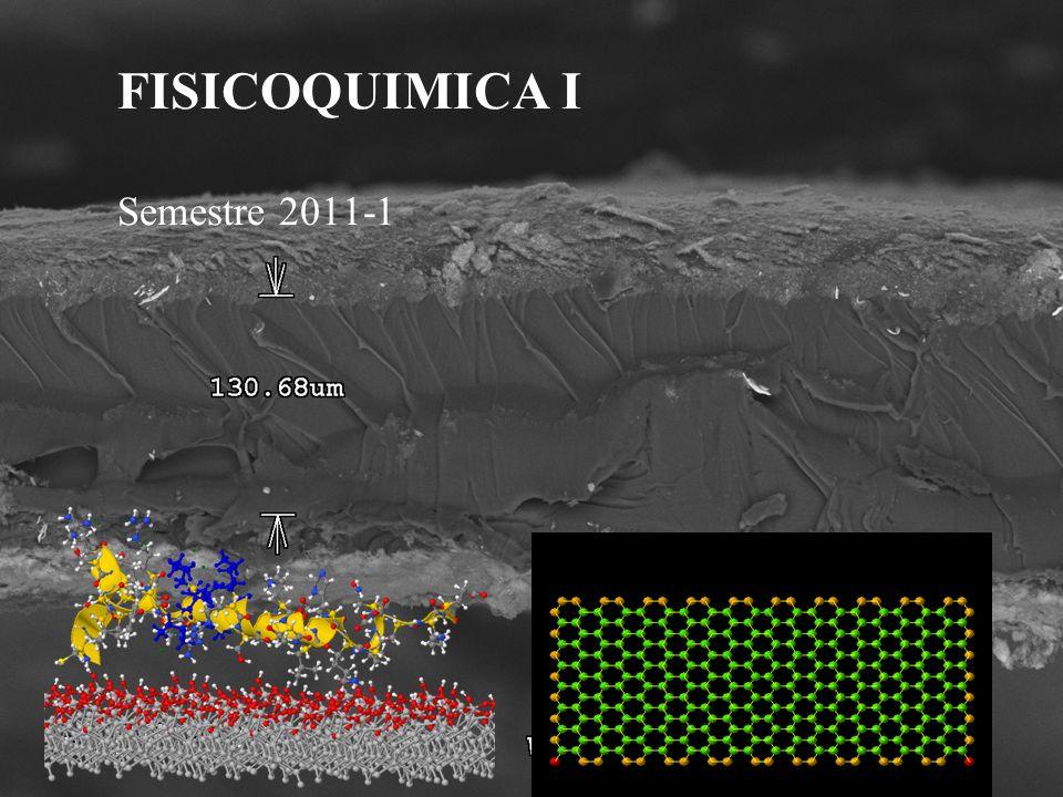 FISICOQUIMICA I Semestre 2011-1