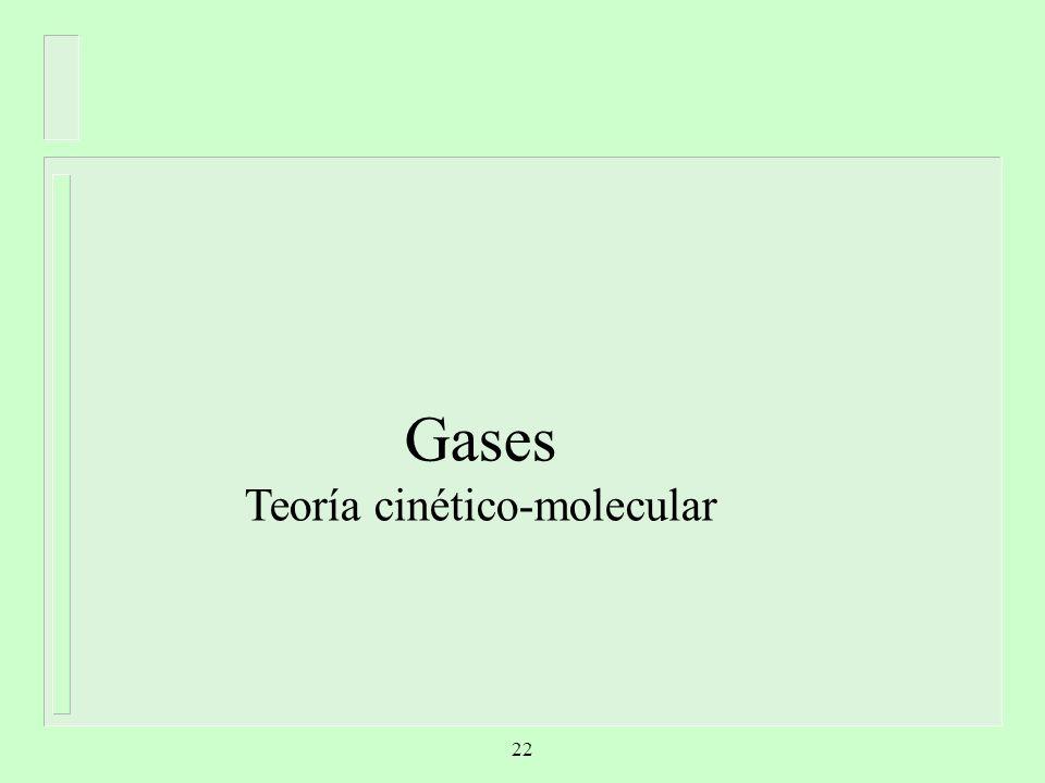 Teoría cinético-molecular