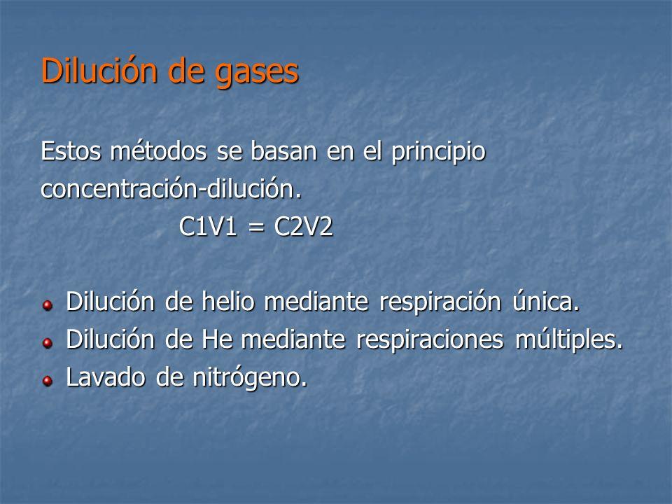 Dilución de gases Estos métodos se basan en el principio