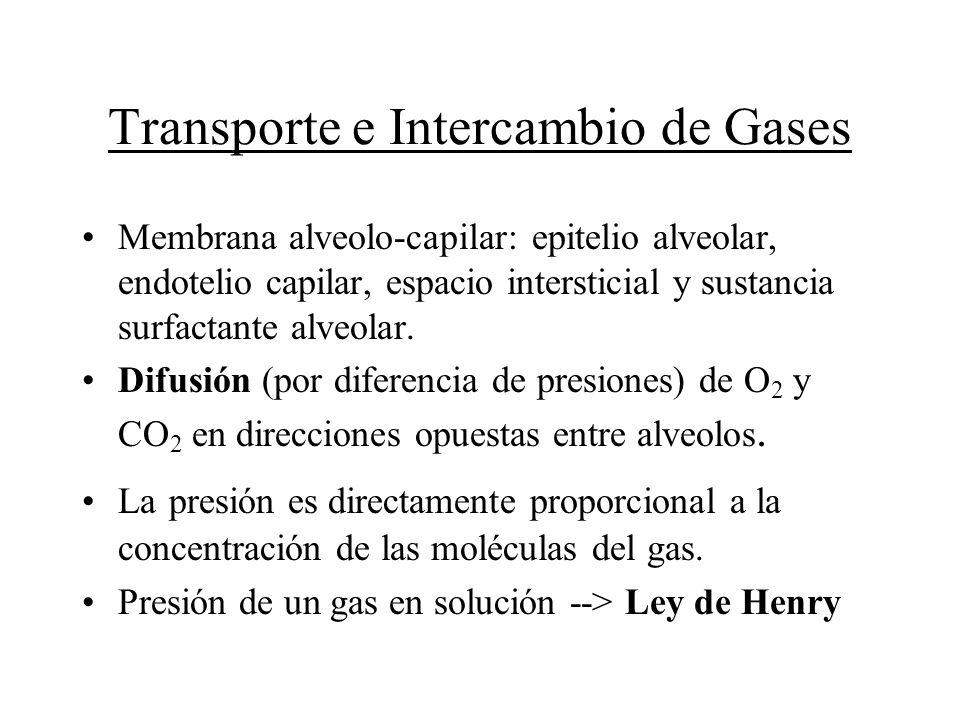 Transporte e Intercambio de Gases