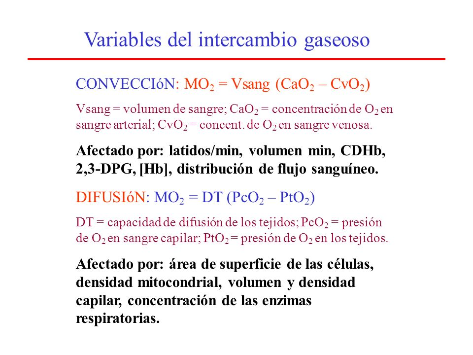 Variables del intercambio gaseoso