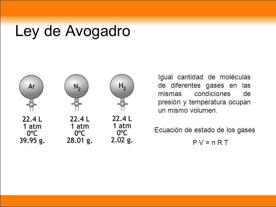 Ecuación de estado de los gases