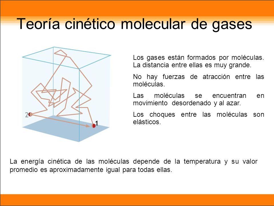 Teoría cinético molecular de gases