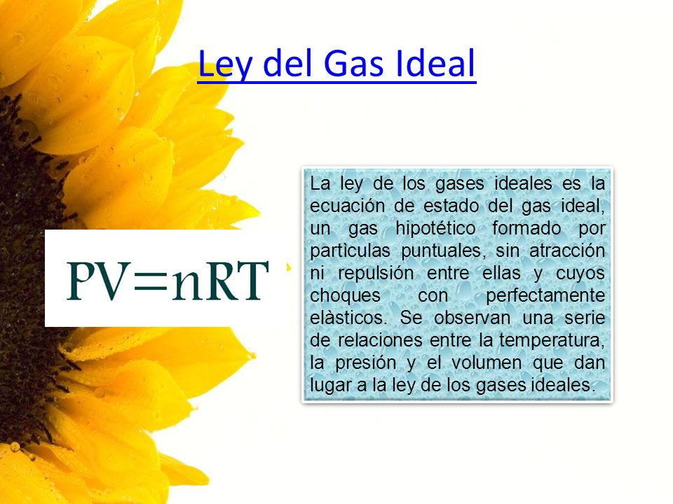 Ley del Gas Ideal