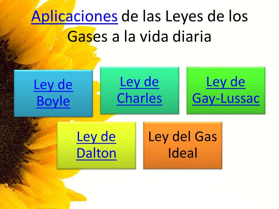 Aplicaciones de las Leyes de los Gases a la vida diaria