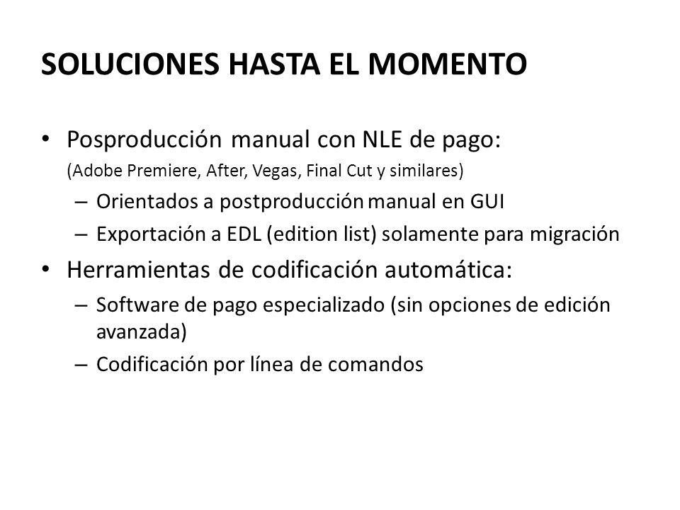 SOLUCIONES HASTA EL MOMENTO