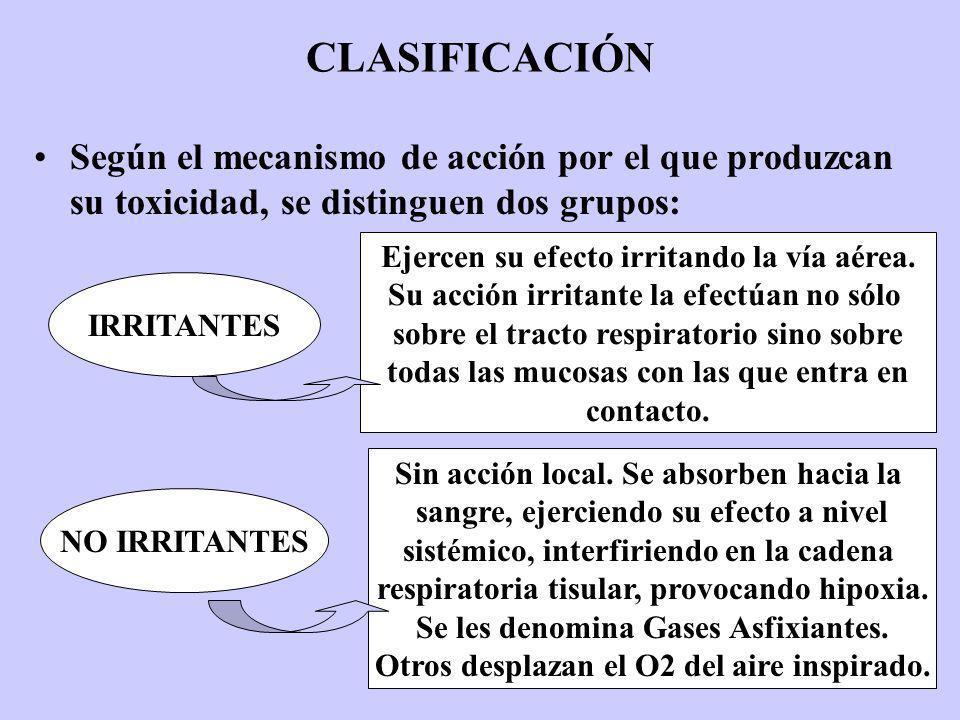 CLASIFICACIÓN Según el mecanismo de acción por el que produzcan su toxicidad, se distinguen dos grupos: