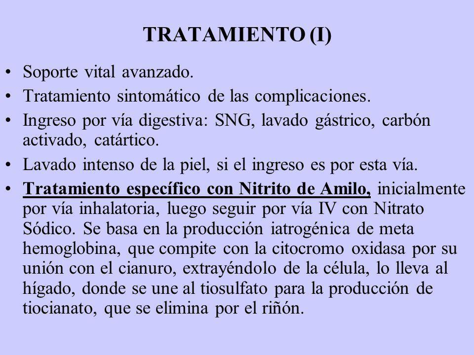 TRATAMIENTO (I) Soporte vital avanzado.