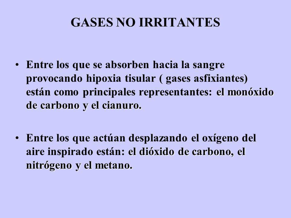 GASES NO IRRITANTES