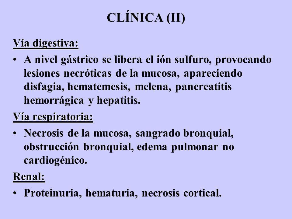 CLÍNICA (II) Vía digestiva: