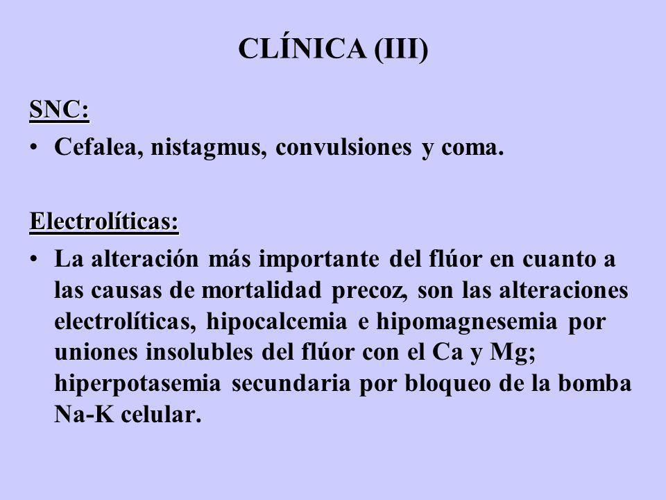 CLÍNICA (III) SNC: Cefalea, nistagmus, convulsiones y coma.