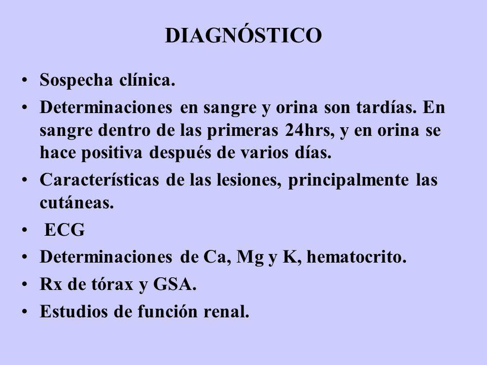 DIAGNÓSTICO Sospecha clínica.