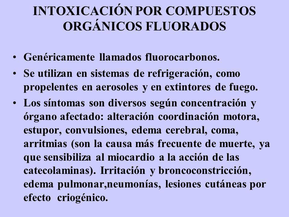INTOXICACIÓN POR COMPUESTOS ORGÁNICOS FLUORADOS