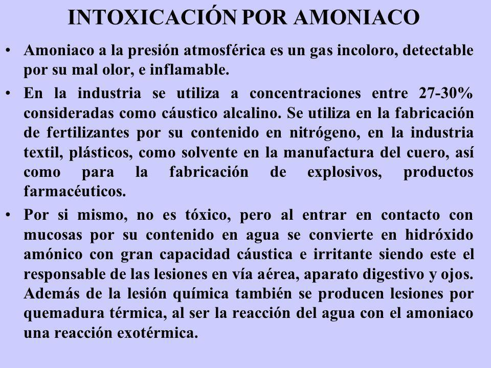 INTOXICACIÓN POR AMONIACO