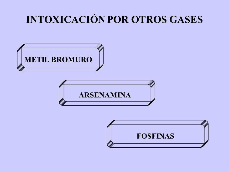 INTOXICACIÓN POR OTROS GASES