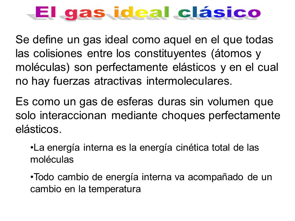 El gas ideal clásico
