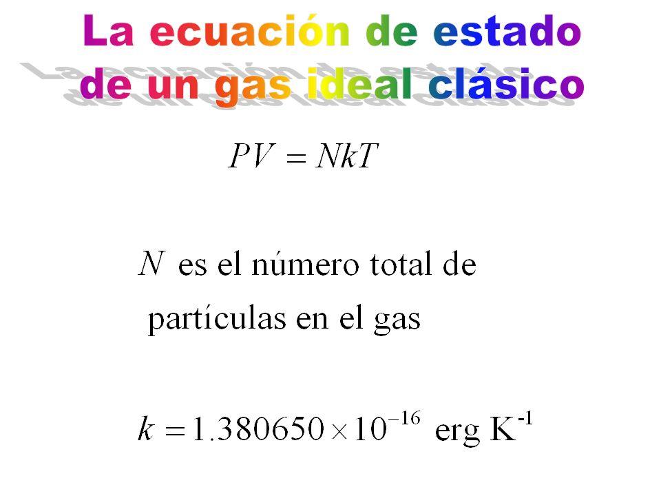 La ecuación de estado de un gas ideal clásico