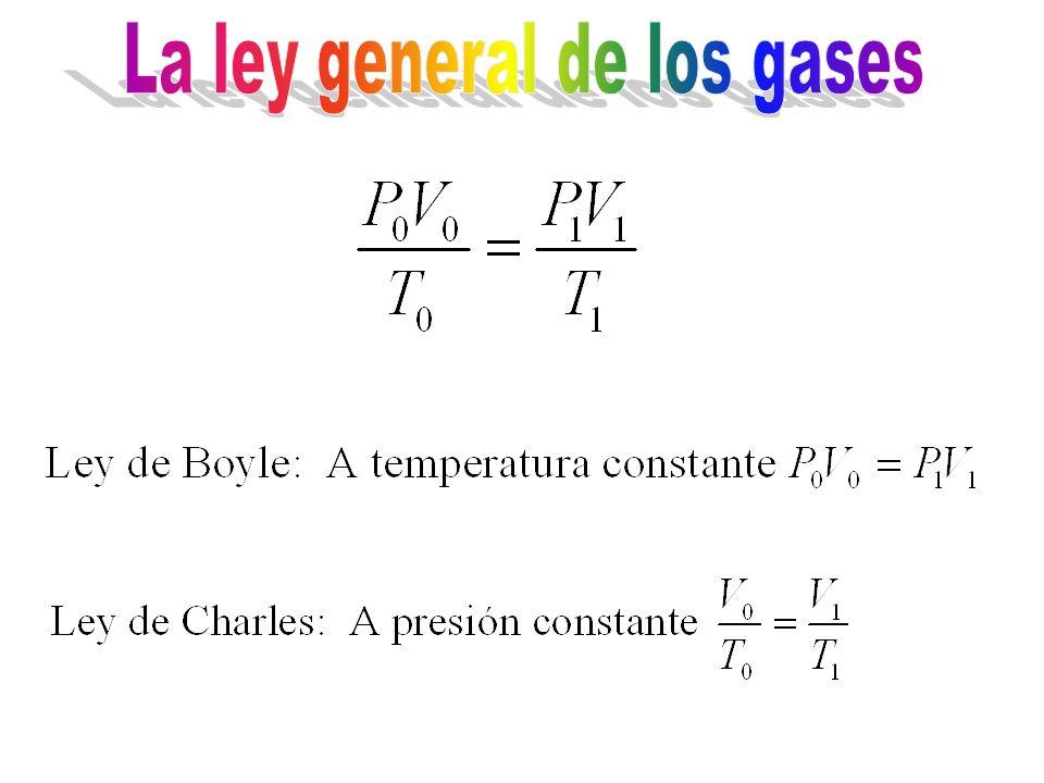 La ley general de los gases