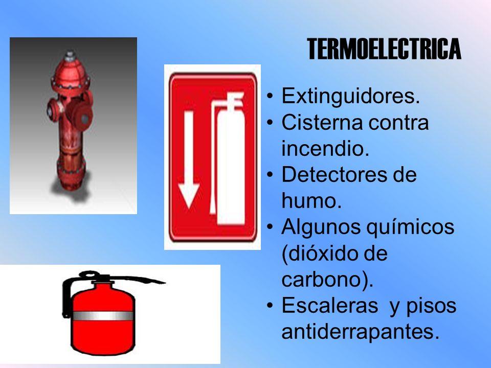 TERMOELECTRICA Extinguidores. Cisterna contra incendio.