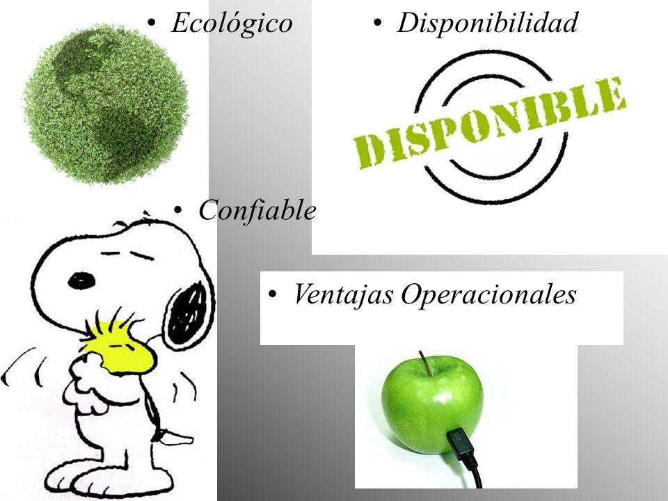 Ecológico Disponibilidad Confiable Ventajas Operacionales