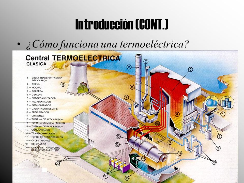 Introducción (CONT.) ¿Cómo funciona una termoeléctrica