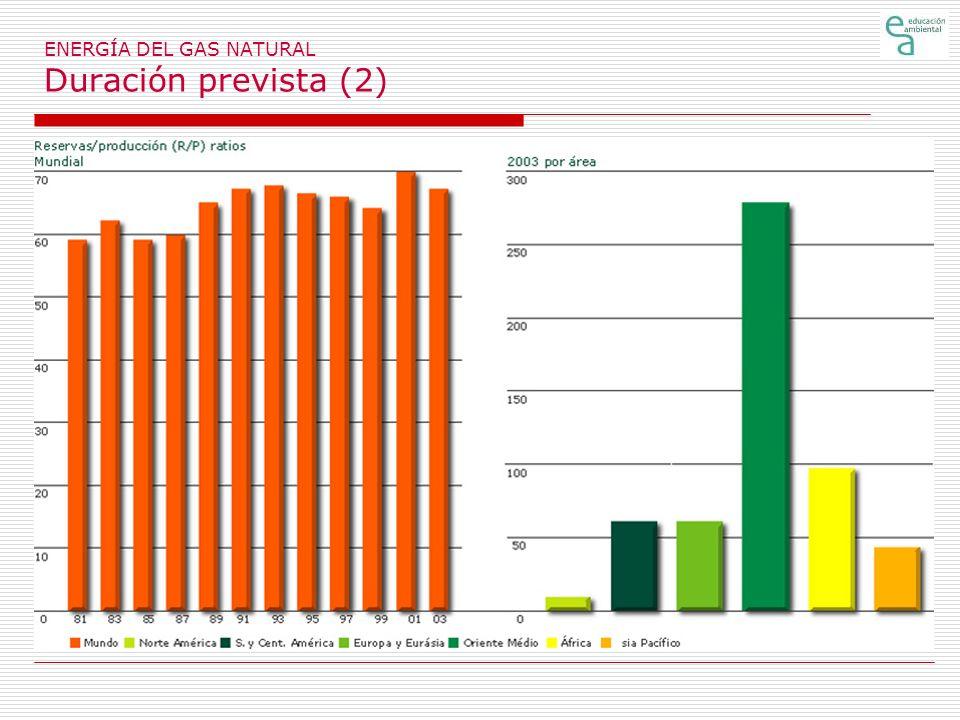 ENERGÍA DEL GAS NATURAL Duración prevista (2)