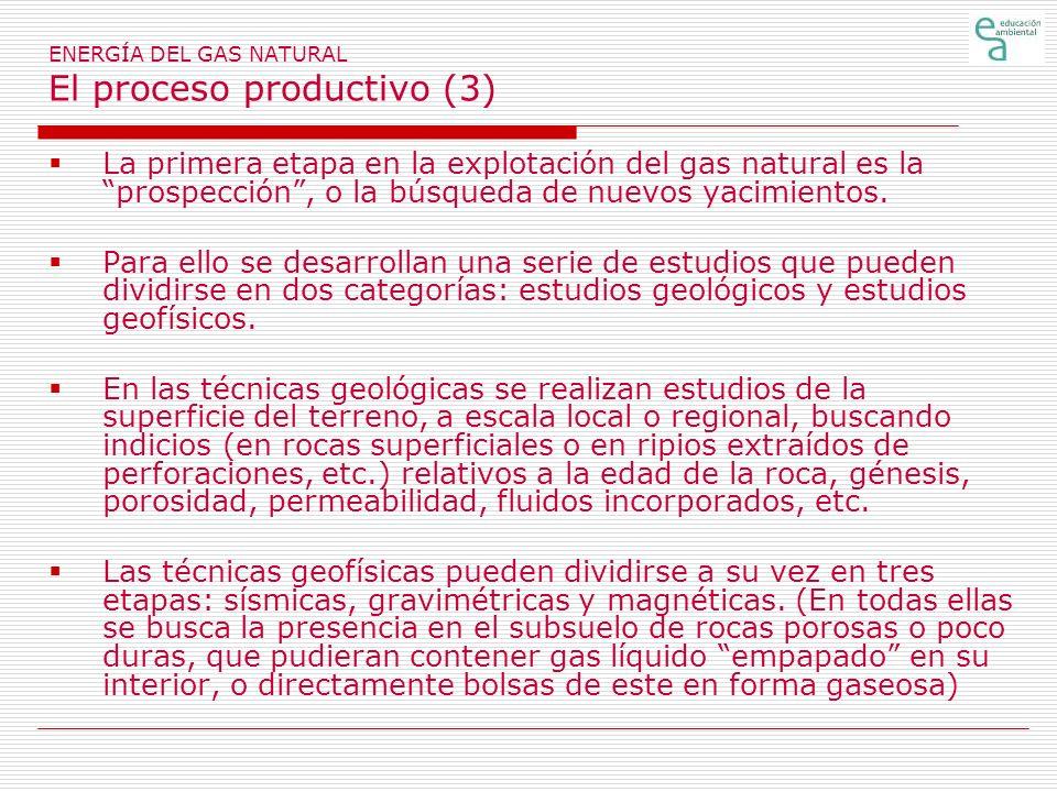 ENERGÍA DEL GAS NATURAL El proceso productivo (3)
