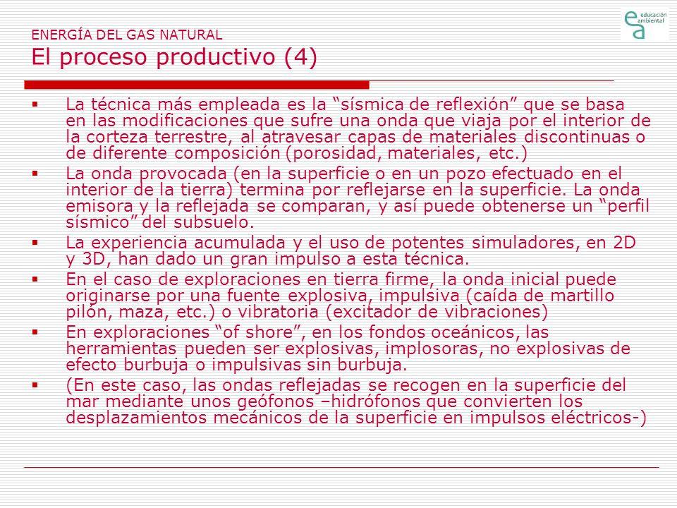 ENERGÍA DEL GAS NATURAL El proceso productivo (4)