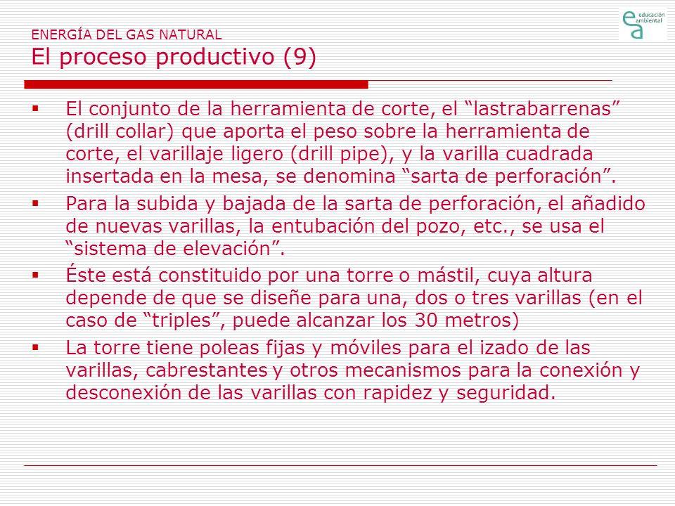 ENERGÍA DEL GAS NATURAL El proceso productivo (9)