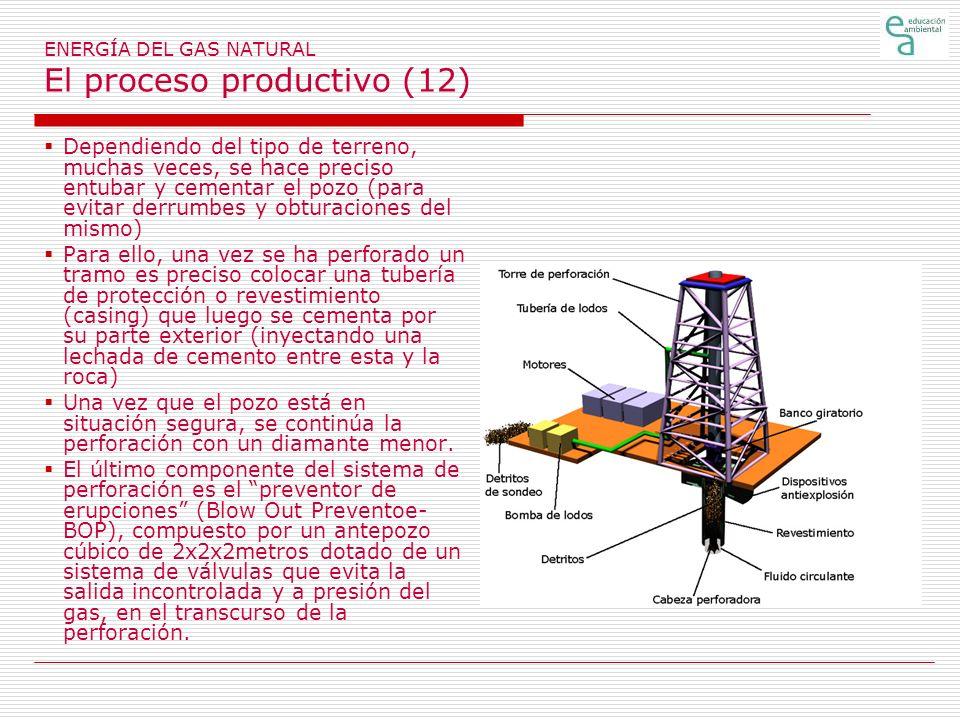 ENERGÍA DEL GAS NATURAL El proceso productivo (12)