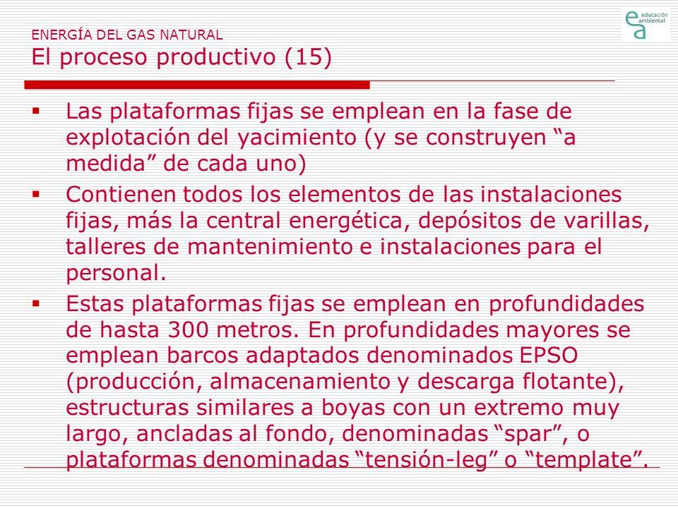 ENERGÍA DEL GAS NATURAL El proceso productivo (15)