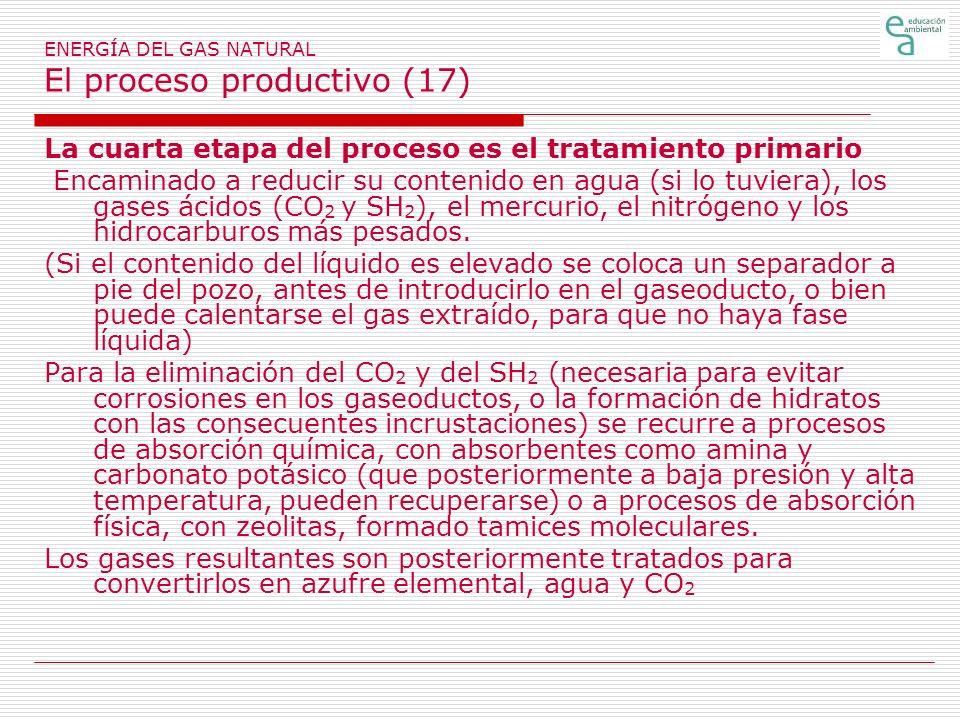 ENERGÍA DEL GAS NATURAL El proceso productivo (17)
