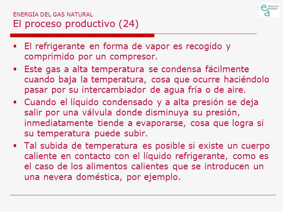 ENERGÍA DEL GAS NATURAL El proceso productivo (24)