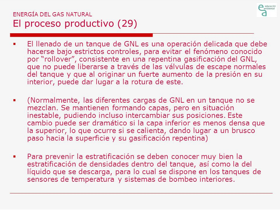 ENERGÍA DEL GAS NATURAL El proceso productivo (29)