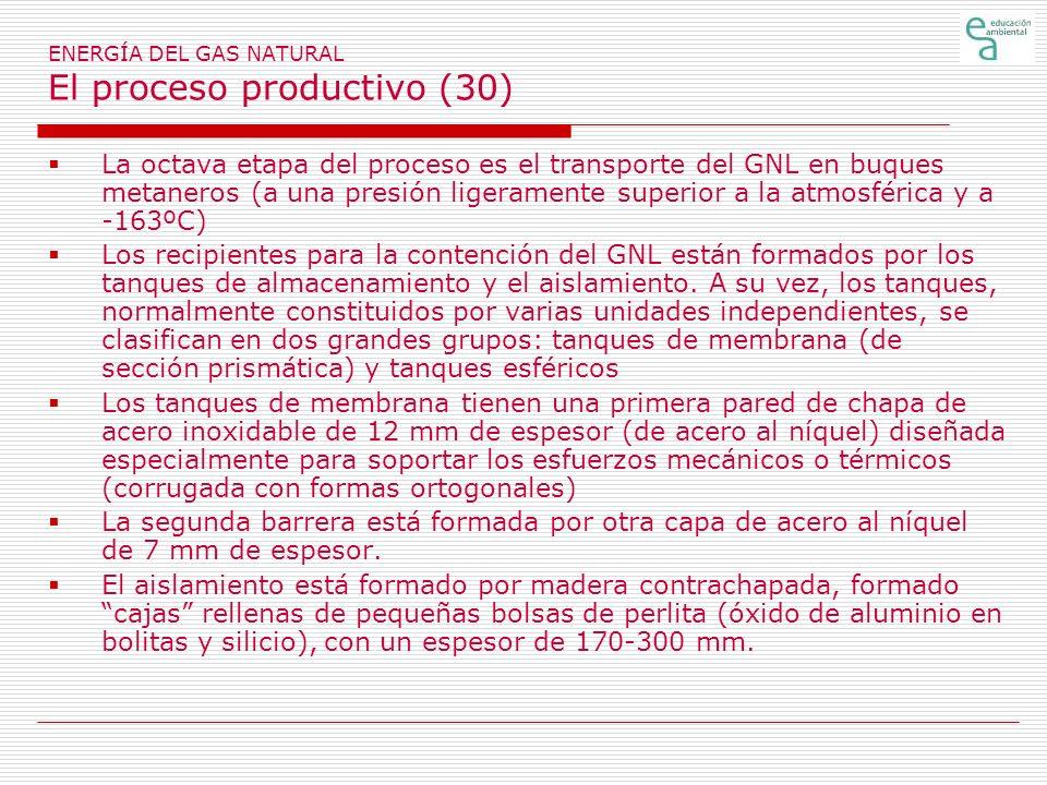 ENERGÍA DEL GAS NATURAL El proceso productivo (30)