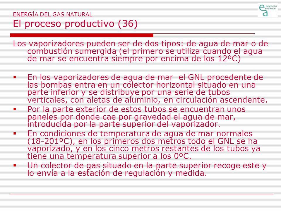 ENERGÍA DEL GAS NATURAL El proceso productivo (36)